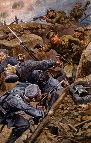 Captain Young winning the Military Cross during the Battle of the Somme