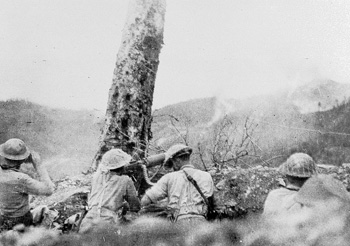 Gurkhas during an attack on a hill near Palel